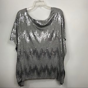 BeBe grey sequined Top